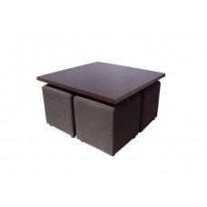 Комплект  ТЕТ-а-ТЕТ 4 пуфа и журнальный столик